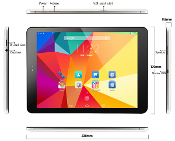 "9.7"" Android 4.4 4G LTE  Octa Core IP Retina Display 2048x1536"