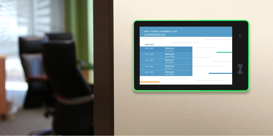 Conference Room Meeting Booking Scheduling Displays Tablets